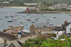 Гавань St Mary старая, острова Scilly, Англии, Великобритании стоковое изображение rf