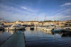 Гавань St Tropez, Франции стоковое фото rf