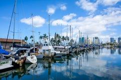 Гавань Wai алы, Гонолулу, Оаху, Гавайи стоковое фото