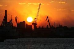 гаван заход солнца Стоковое Изображение RF
