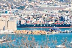 Гаван зона загрузки и разгружать Ла Spezia стоковые изображения rf