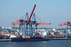 Гаван кран контейнера Гётеборга стоковое фото rf