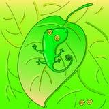 Гад на листьях Стоковая Фотография RF