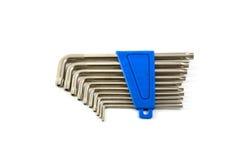 гаечные ключа шестиугольника установленные Стоковые Изображения RF