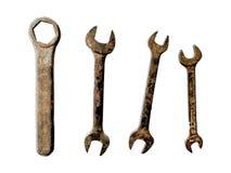Гаечный ключ с шестигранным гнездом и 3 ключа Открыт-конца Стоковая Фотография