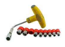 Гаечный ключ tommy ключа инструментального ящика изолированный на белизне Стоковое фото RF