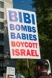 Газа: Остановите митинг протеста бойни в Уайтхолле, Лондоне, Великобритании стоковое изображение
