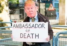 Газа: Остановите митинг протеста бойни в Уайтхолле, Лондоне, Великобритании стоковые изображения