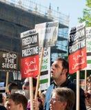 Газа: Остановите митинг протеста бойни в Уайтхолле, Лондоне, Великобритании стоковые фото