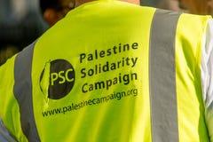 Газа: Остановите митинг протеста бойни в Уайтхолле, Лондоне, Великобритании стоковая фотография