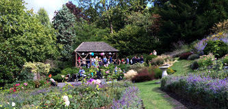 Газебо в садах террасы Стоковая Фотография RF