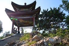 Газебо горы в северном Китае Стоковые Фотографии RF