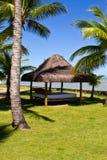 Газебо на курорте Eco dajuda Arraial стоковое изображение rf