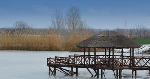 Газебо на озере для 2 Стоковое Фото