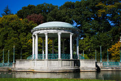 Газебо на парке Роджера Williams, Провиденсе, RI Стоковое Изображение RF
