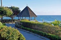 Газебо на парке Heisler, пляже Laguna, Калифорнии o стоковая фотография rf