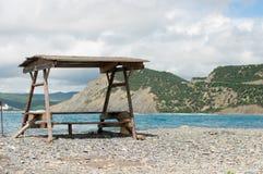 Газебо на пляже Стоковые Изображения RF