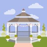 Газебо свадьбы также вектор иллюстрации притяжки corel Стоковые Изображения