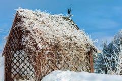 Газебо с краном на крыше Стоковое Изображение RF