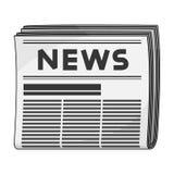 Газета Значок почты и почтальона одиночный в шарже вводит сеть в моду иллюстрации запаса символа вектора бесплатная иллюстрация