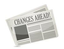 Газета изменений вперед иллюстрация штока