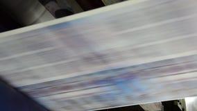 Газета печатания прессы смещения сети видеоматериал