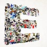 Газета последний e сделанная от confetti газеты и кассеты Стоковые Фото