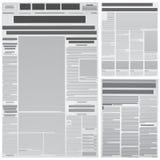 газета предпосылки иллюстрация вектора