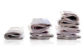 газета складывает 3 Стоковые Изображения