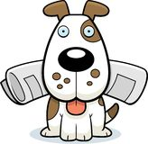 газета собаки иллюстрация вектора