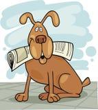 газета собаки иллюстрация штока