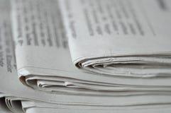 газета стола Стоковая Фотография RF