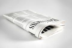 Газета с белой предпосылкой Стоковая Фотография