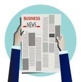 Газета чтения предпринимателя Стоковые Изображения RF