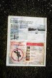 Газета Courrier Laval Стоковое Изображение RF