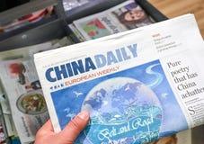 Газета Eropean газеты Чайна Дэйли еженедельная стоковая фотография rf