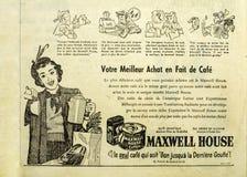 Газета Maxwell House добавляет Стоковые Фотографии RF