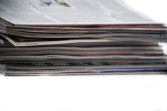 Газеты и кассеты Стоковые Фото