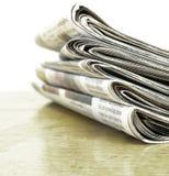 Газеты штабелированные вверх Стоковое Изображение RF