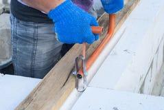 Газированная бетонная кладка Стоковое фото RF