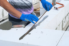 Газированная бетонная кладка Стоковые Фотографии RF