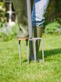 газируя лужайка Стоковые Изображения RF