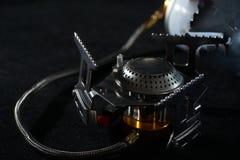 Газовая горелка в конце вверх с и без пламен Стоковые Изображения RF