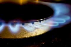 Газовая горелка на плите стоковая фотография