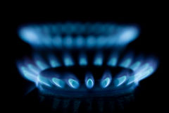 Газовая горелка на черной предпосылке Стоковая Фотография RF