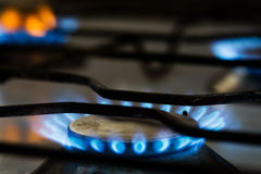 Газовая горелка с огнем Стоковая Фотография RF