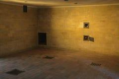 Газовая камера в концентрационном лагере Dachau, Германии Стоковое Изображение RF