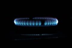 газовая плита голубого пламени Стоковое Изображение