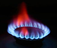 газовая плита пламени стоковое изображение rf