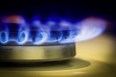 Газовая плита горелки Стоковое Изображение